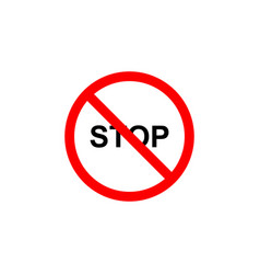 forbidden stop icon can be used for web logo vector image