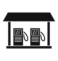 Gas station icon simple style vector
