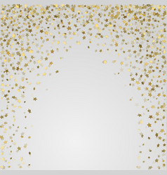 gold 3d stars on white background vector image