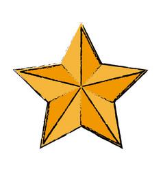 Gold star decoration elegant element vector