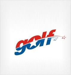 golf logo golf image symbol vector image