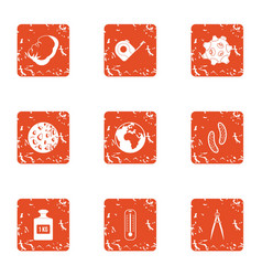Gravity icons set grunge style vector