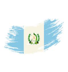 guatemalan flag grunge brush background vector image