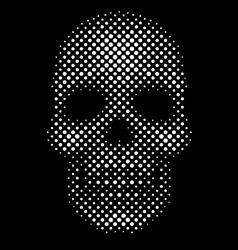 Halftone dot skull vector image