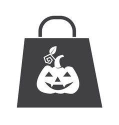 halloween bag icon vector image