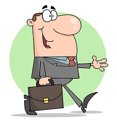 Happy Businessman Walking vector image