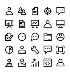 Human resources line icons 1 vector