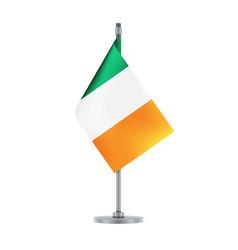irish flag hanging on the metallic pole vector image