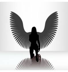 Kneeling angel vector
