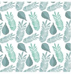 Leaf natural plant herb botany background vector