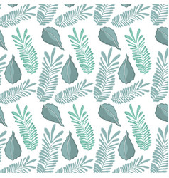 Leaf of natural plant herb botany background vector
