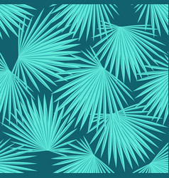Leaves of a palm tree seamless tropical summer vector