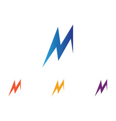 letter m icons such logos vector image