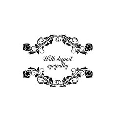 Lettering on tombstone isolated burial frame sign vector