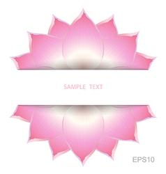 Lotus background decorate vector