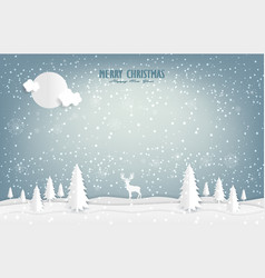 nature landscape and concept the reindeer is in vector image