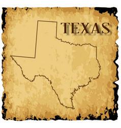 Old texas map vector