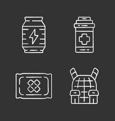 online game inventory chalk icons set esports vector image