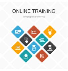 Online training infographic 10 option color design vector