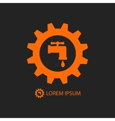 Orange plumbing logo vector image