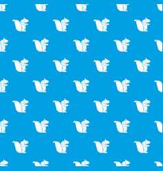 Origami squirrel pattern seamless blue vector