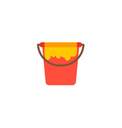 paint bucket icon flat element vector image