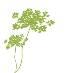 Plant green silhouette vector