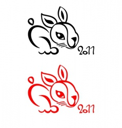 rabbit Chinese new year vector image vector image