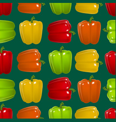 realistic detailed color pepper seamless pattern vector image