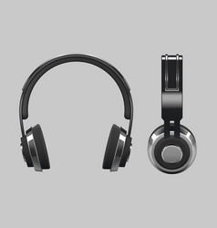 realistic headphones design - 3d vector image