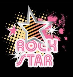 Rock star graphic vector