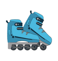 roller skates isolated in the city vector image