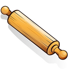 rolling pin cartoon vector image