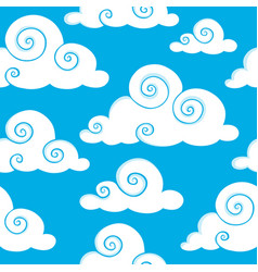Seamless background with clouds 6 vector