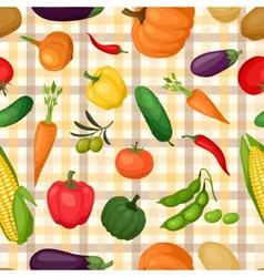 Seamless pattern with fresh ripe stylized vector