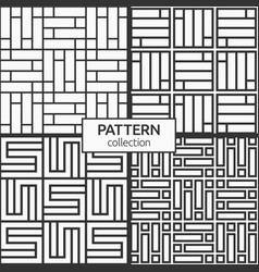 Set four korean or chinese seamless patterns vector