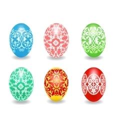 Set of Easter egg vector image