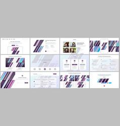 Set of templates for website design vector