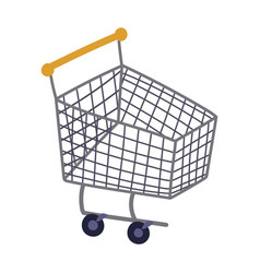 shopping cart market commerce isolated icon design vector image