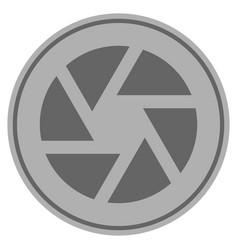 shutter silver coin vector image