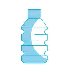 Silhouette water plastic bottle to drink and vector