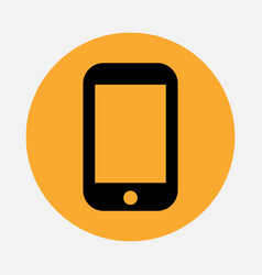 Simple smartphone or mobile phone icon isolated vector