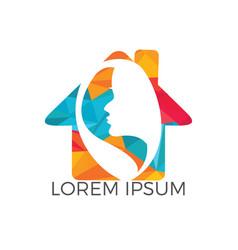 spa and salon logo design vector image