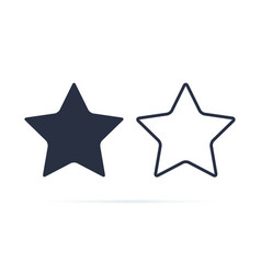 star symbol star icon reward rating vector image