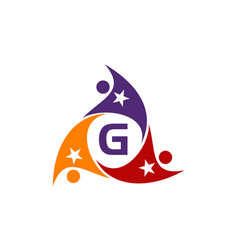Success life coaching letter g vector