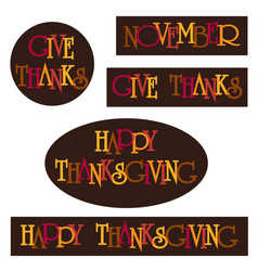Thanksgiving typography clipart graphics vector