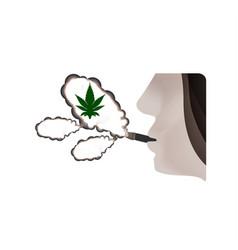 The harmful effects of smoking marijuana harmful vector