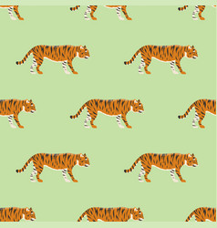 Tiger action wildlife animal danger mammal vector