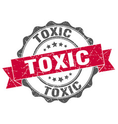 Toxic stamp sign seal vector