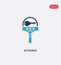 Two color keywords icon from search engine vector